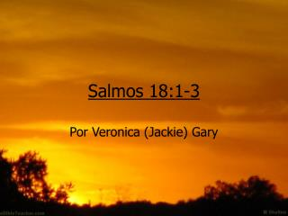 Salmos 18:1-3