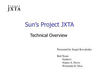 Sun's Project JXTA
