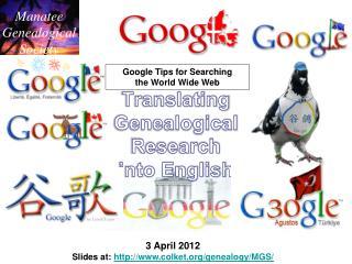 Translating Genealogical Research into English