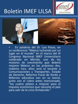 Boletín IMEF ULSA