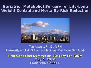 Bariatric Metabolic Surgery for Life-Long Weight Control and Mortality Risk Reduction