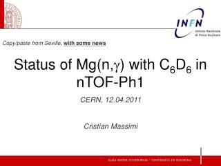 Copy/paste from Seville,  with some news Status of Mg(n, g ) with C 6 D 6  in nTOF-Ph1