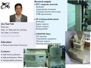 Research outputs  PTC composite materials Brabendr Argon plasma treatment