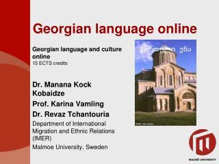 Georgian language online