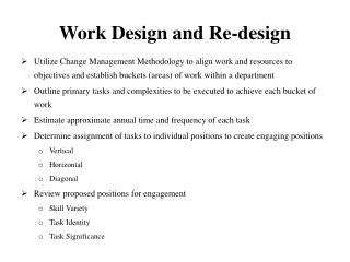 Work Design and Re-design