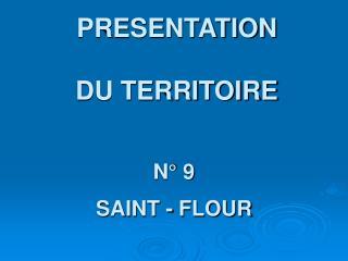PRESENTATION  DU TERRITOIRE