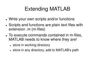 Extending MATLAB