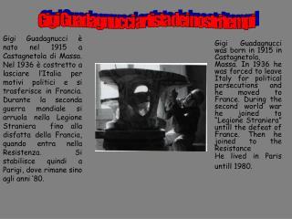 Gigi Guadagnucci artista dei nostri tempi