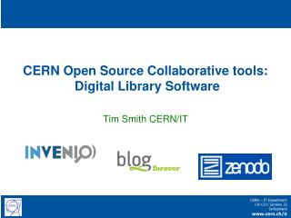 CERN Open  Source Collaborative  tools:  Digital  L ibrary  S oftware