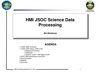 HMI JSOC Science Data Processing  Art Amezcua