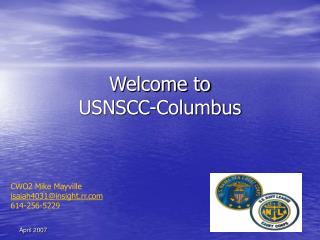 Welcome to  USNSCC-Columbus