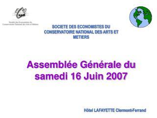 SOCIETE DES ECONOMISTES DU CONSERVATOIRE NATIONAL DES ARTS ET METIERS