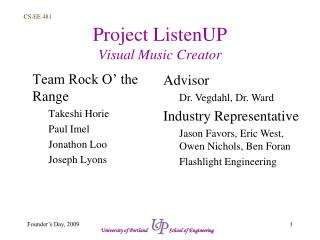 Project ListenUP Visual Music Creator
