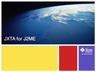 JXTA for J2ME