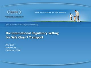 April 8, 2013 – WNA Singapore Meeting