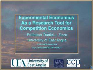 Experimental Economics As a Research Tool for Competition Economics