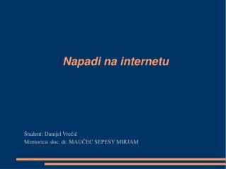 Napadi na internetu