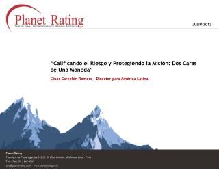 Planet Rating Francisco de Paula Ugarriza 813 Of. 301San Antonio, Miraflores, Lima - Perú