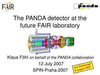 The PANDA detector at the future FAIR laboratory