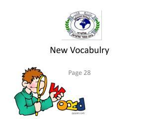 New Vocabulry