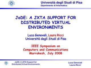 Universit � degli Studi di Pisa Dipartimento di Informatica