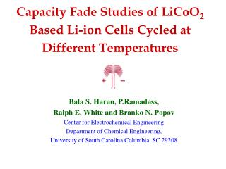Capacity Fade Studies of LiCoO2 Based Li-ion Cells Cycled at Different Temperatures