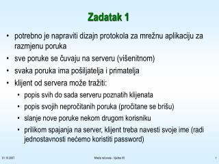 Zadatak 1