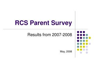 RCS Parent Survey