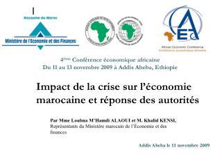 Impact de la crise sur l  conomie marocaine et r ponse des autorit s