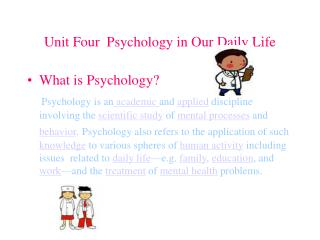 Unit Four  Psychology in Our Daily Life