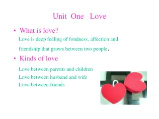 Unit  One   Love
