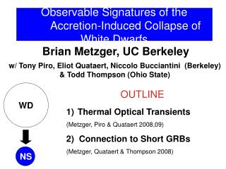 Observable Signatures of the Accretion-Induced Collapse of White Dwarfs