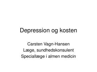 Depression og kosten