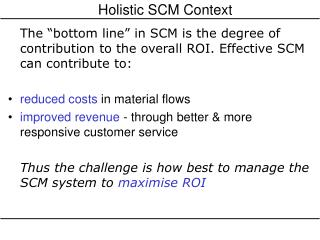 Holistic SCM Context