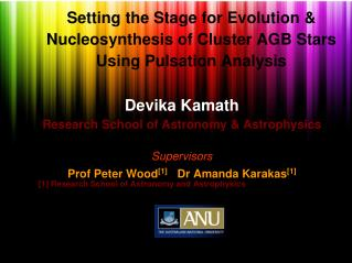 Setting the Stage for Evolution & Nucleosynthesis of Cluster AGB Stars Using Pulsation Analysis