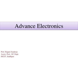 Advance Electronics