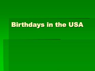Birthdays in the USA