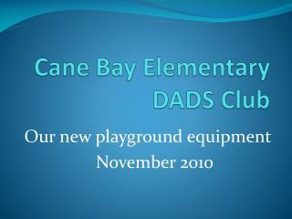 Cane Bay Elementary DADS  Club