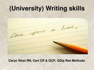 (University) Writing skills