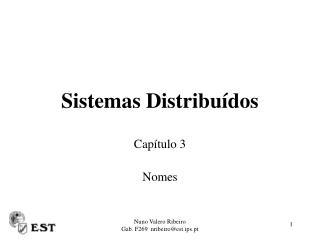 Sistemas Distribu dos