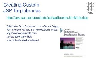 Creating Custom  JSP Tag Libraries