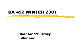 BA 492 WINTER 2007