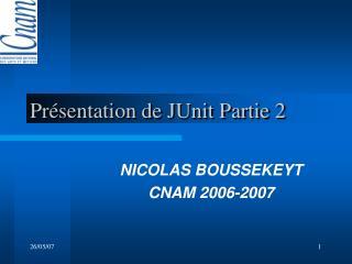 Présentation de JUnit Partie 2