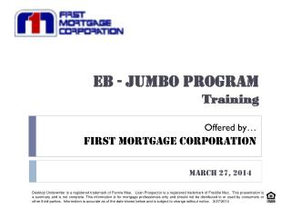 EB - JUMBO PROGRAM Training