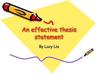 An effective thesis statement