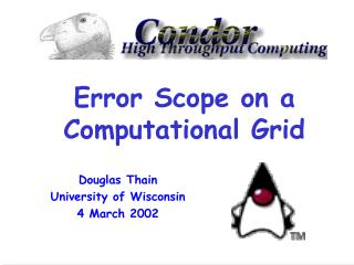 Error Scope on a Computational Grid