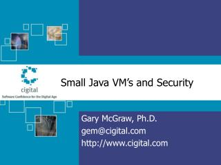 Small Java VM�s and Security