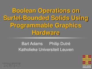 Boolean Operations on Surfel-Bounded Solids Using Programmable Graphics Hardware