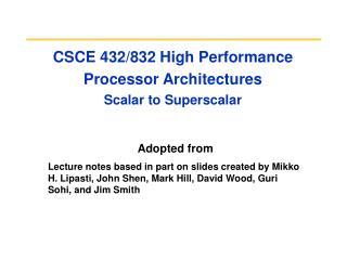 CSCE 432