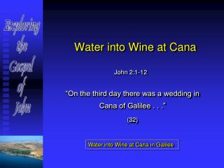 Water into Wine at Cana